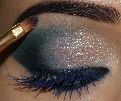 Create this Look with White Sparkle & Passion Eyeshadows, Charcoal Liner - gotta have some Diamond Sparkle!
