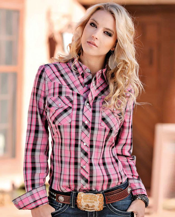 Cruel Ladies 39 Tina Plaid Western Shirt Fort Western Online My Style Pinterest Lady Ps