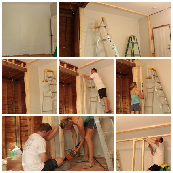 framing in the wall to wall closet