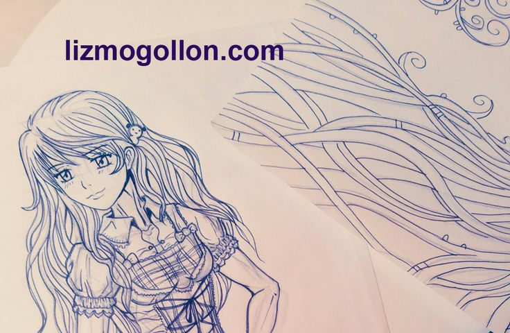 #Sketching time #manga #anime #manga girl #dibujando
