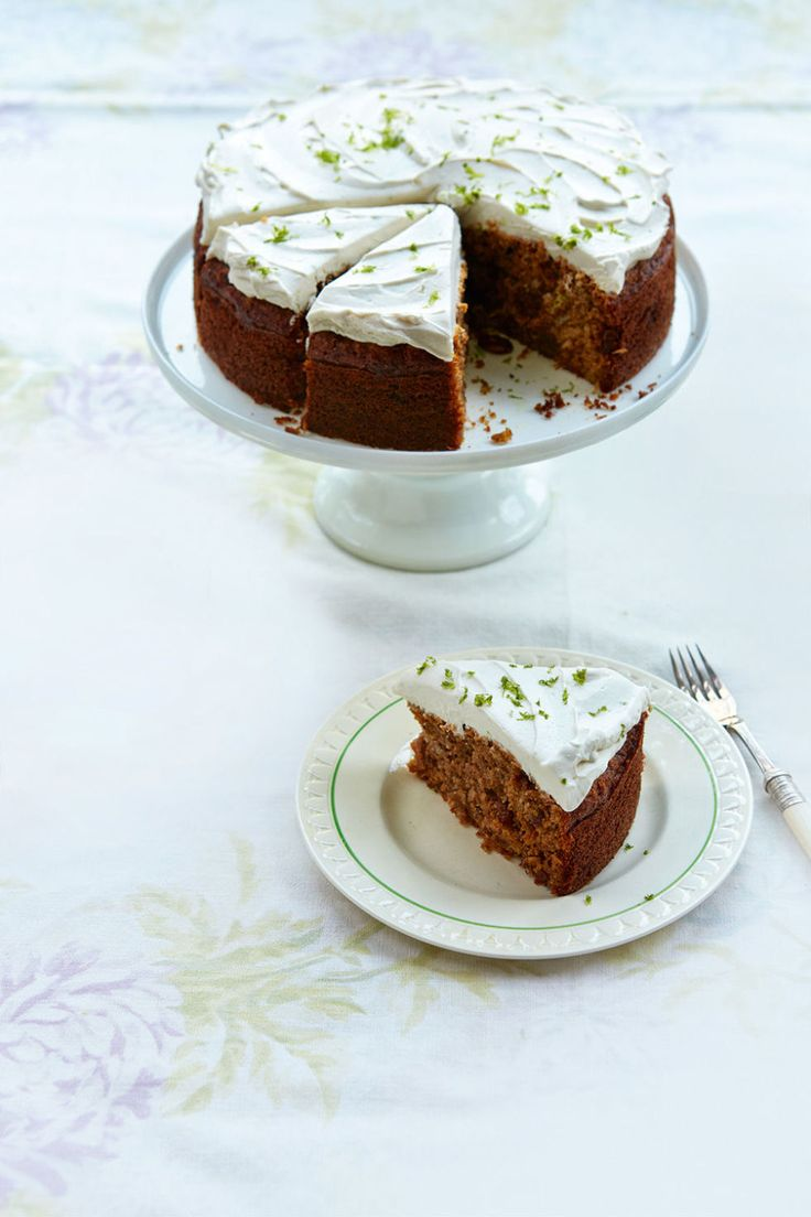 Jo Pratt's Healthy Carrot Cake with Coconut-Lime Frosting