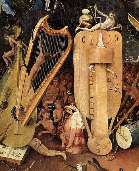 """Detail from """"The Garden of Earthly Delights,"""" (circa 1480-90)Hieronymous Bosch, From Th Gardens, Art Master, Jeroen Bosch, Earth Delight, Details From Th, Fromth Gardens, Delight Details, Hieronymus Bosch"""