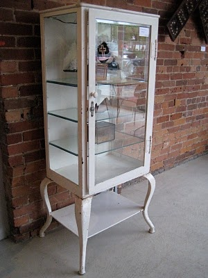 I Own An Old Medical Cabinet Just Like This, But Mine Has Solid Metal Sides