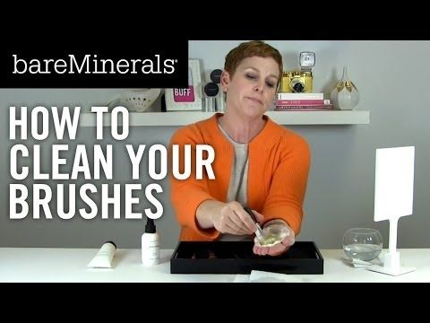 ▶ bareMinerals Tutorial: How to Clean Brushes - YouTube