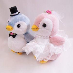 ウェルカムドール・結婚式ぬいぐるみ・パステルペンちゃんペンギンのウェルカムドール 送料無料