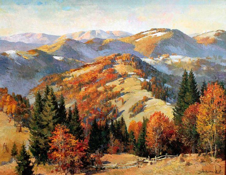 "Saatchi Art Artist: Viktor Zhmak; Oil 2011 Painting ""Carpathian Pass"""