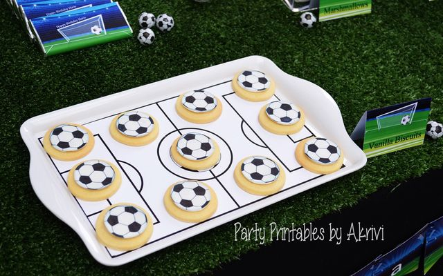 Cookies at a Soccer Party #soccer #partycookies