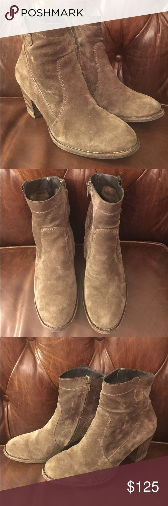 Paul Green Grey Suede Bootie Paul Green boots are like nothing else on this planet!! You could run a marathon in these boots they're so comfortable. Paul Green Shoes Ankle Boots & Booties
