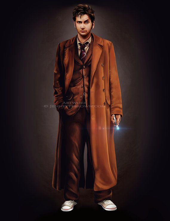 Le dixième docteur  David Tennant 8 X 11 Fan Art par sugarpoultry