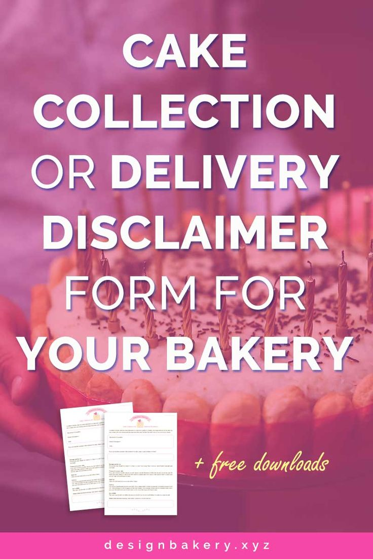 Here is our free download Cake Collection or Delivery Disclaimer Form for your bakery. This form contains two copies, for you and your customer. You should ask the customer to sign your copy on collection or delivery to confirm that the cake has been produced as requested and in perfect condition. It is very important that you shouldn't be held responsible for any damage caused after you have handover the cake.