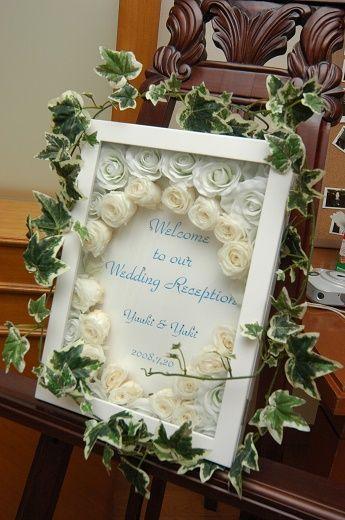 プリプラショップをフル活用!手作りのウェルカムボード。#ウェディング #ウェルカムボード #DIY #wedding
