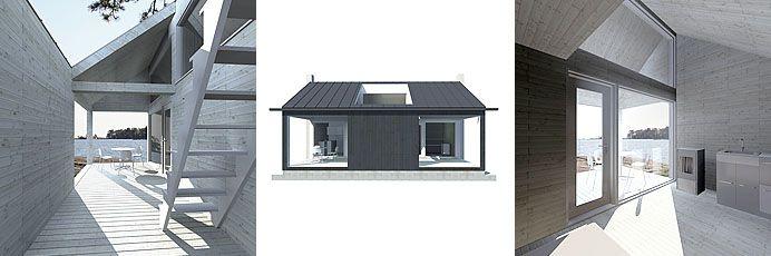 Sunhouse XS3 - triptych. Architect: Jarkko Könönen.