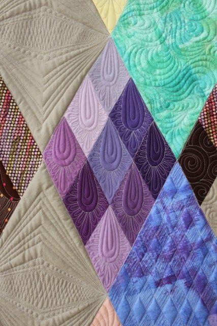Custom Quilting by Rachael Dorr for Earamichia Brown