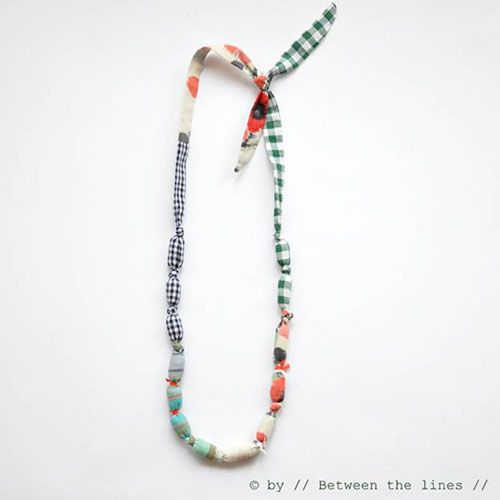 Fabric sausage necklace - link idea from handmade charlotte