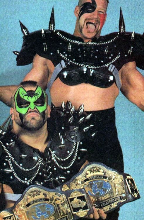 the road warriors-they use to be my fav wrestling duo