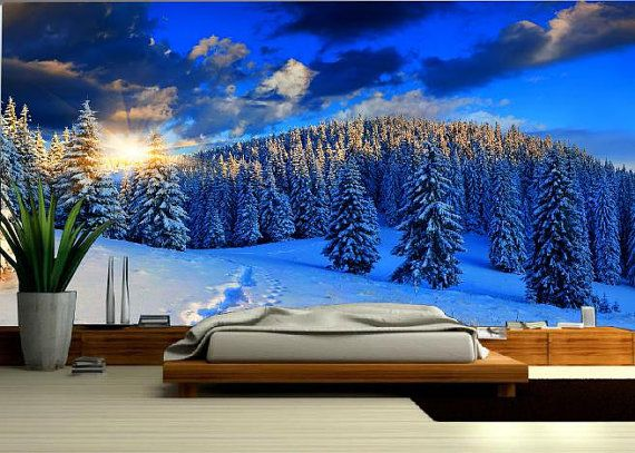 SNOW MOUNTAIN MURAL Wallapeper nature nauture by