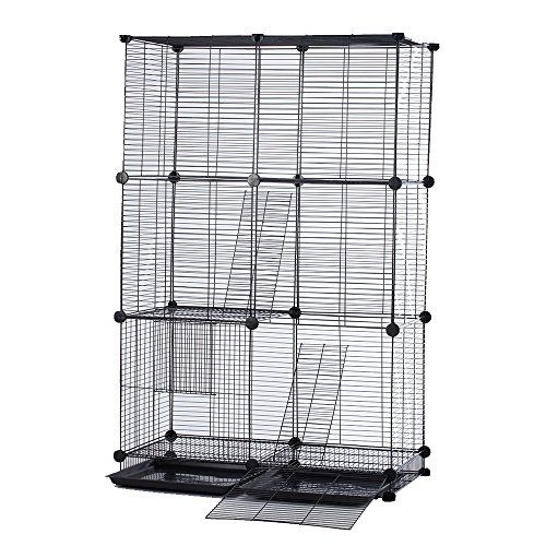 Modular Add-Up Small Cat (Kitten) Small Dog (Puppy) Cage Playpen Series (Black Beginer) CW63088 >>> Visit the image link for more details. #CatCages