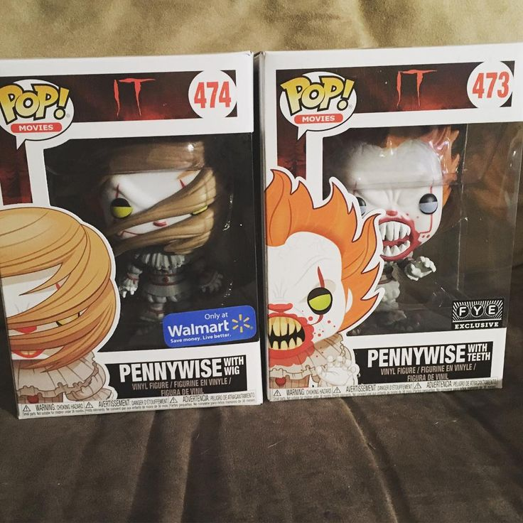 Finally got some pennywise in my collection! Walmart exclusive pennywise (with wig) and FYE exclusive pennywise (with teeth) #IT #pennywise #funko #funkopop #funkocollector #funkocollectors #funkocollection #pop #popcollectors #popcollector #popcollection #toppop #toppops #popstagram #toppopsyt