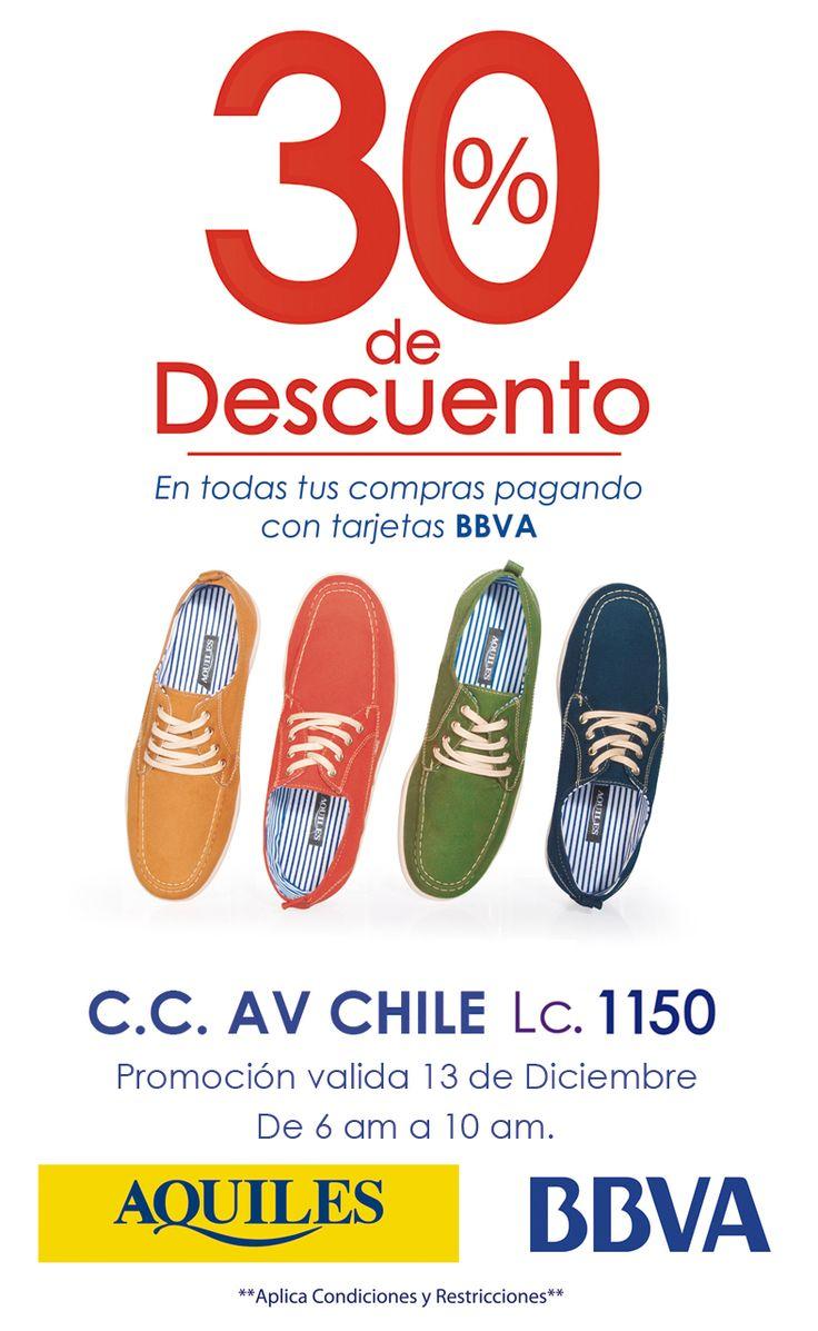 Alerta Bogotá!!! Mañana 13 de Diciembre en @CentroAvChile 30% de descuento en tus compras pagando con la tarjeta @bbva.