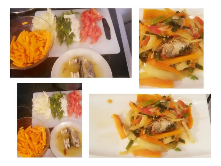 filets de sardines en Julienne de légumes