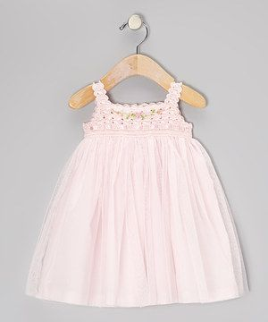 Love this Pink Crocheted Tulle Dress - Infant, Toddler & Girls by Victoria Kids on #zulily! #zulilyfinds