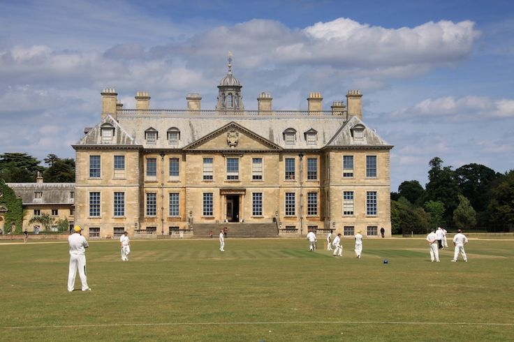 Cricket at Belton House, Grantham, Lincolnshire.