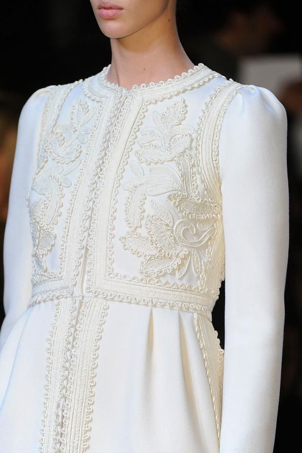 Valentino Details A/W '12 inspired by moroccan caftans