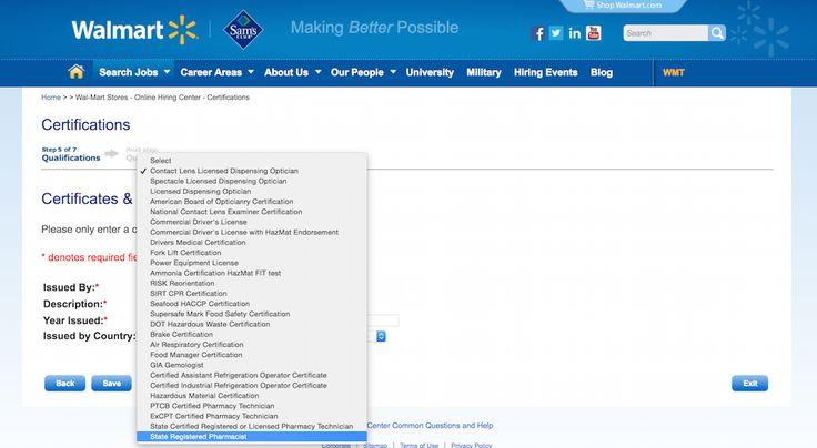 Walmart application Walmart Application - Pages Pinterest - walmart careers