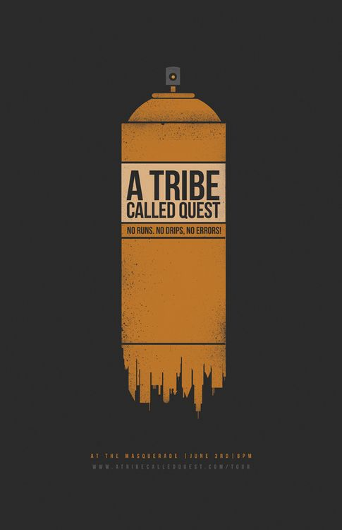 A Tribe Called Quest (gig poster). #gigposters #musicart #music http://www.pinterest.com/TheHitman14/music-poster-art-%2B/