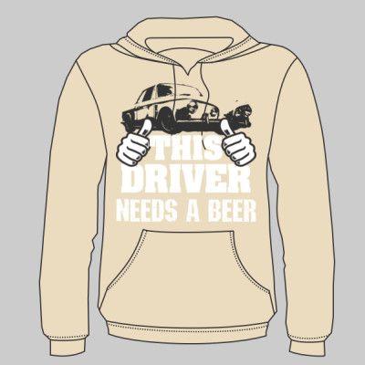 This Driver Needs A Beer Karmann Ghia Hoodie