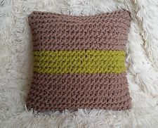 Hand Knitted Chunky Extreme Knit 18 inch square Feather Cushion
