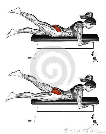 Fitness exercising. Alternate Leg Reverse Hyper. Female - Fitness Women's active - http://amzn.to/2i5XvJV