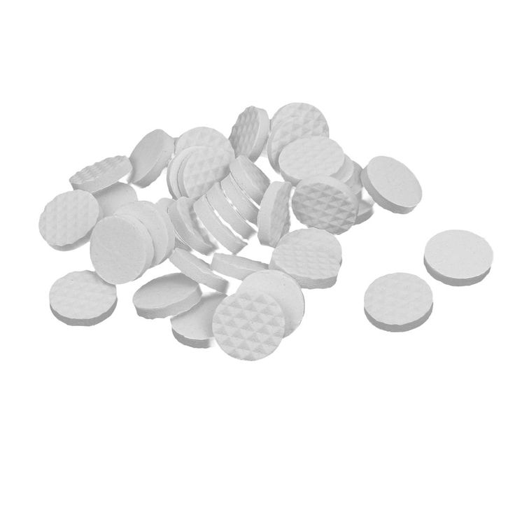 18mm Dia Rubber Self Adhesive Anti-Skid Furniture Protection Pads White 40pcs