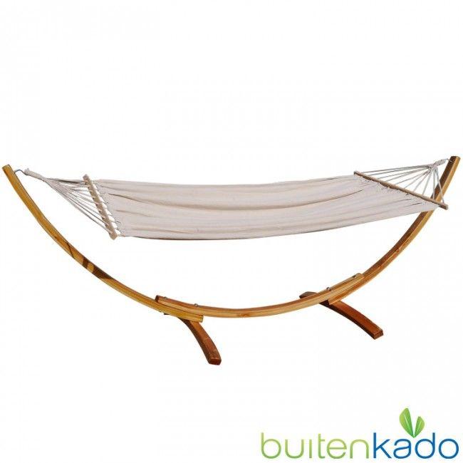 houten hangmatstandaard met hangmat