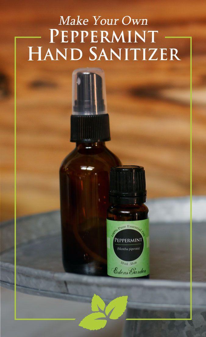 Make Your Own Peppermint Hand Sanitizer | Edens Garden