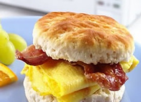 Bacon egg and cheese biscuit. Easy to make and high protein...