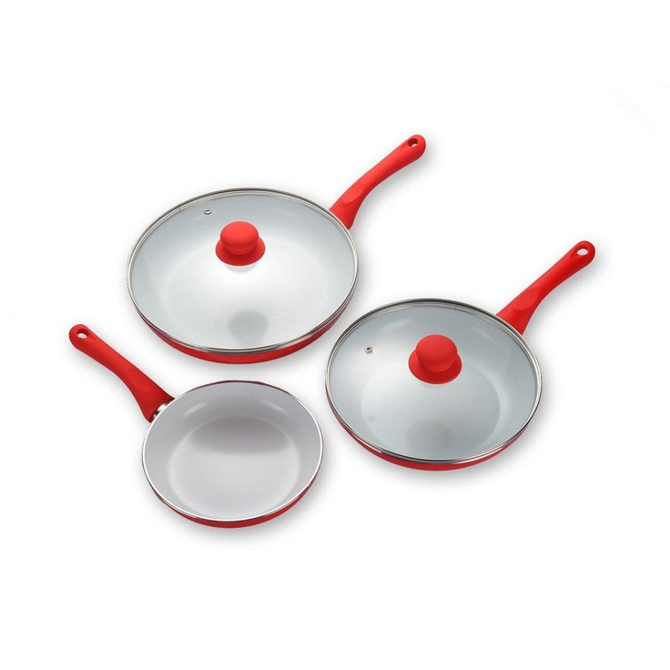 Upgrade your cookware with the Ecochef Ceramic Frypan - Set of 3 from The Shopping Channel