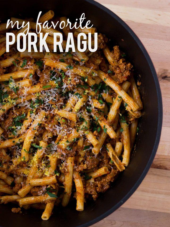 Slow Simmered Pork Ragu | www.noshon.it | #sundaysupper #pasta