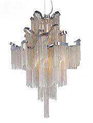 Lustre+de+alumínio+e12+/+e14+/+designer+pingente+de+luz+/+prata&Cor+de+ouro+/+showroom+sala+escada+em+espiral+escada+–+BRL+R$+9.209,89