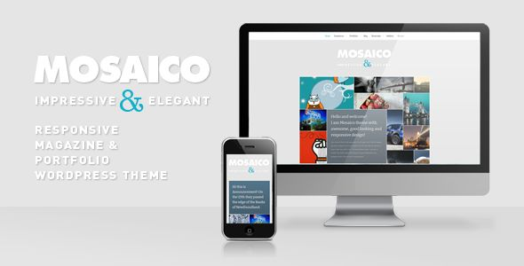 Mosaico - Unique Magazine Theme   http://themeforest.net/item/mosaico-unique-magazine-theme/1536948?ref=damiamio      Mosaico is unique and responsive magazine WordPress theme with clean, sleek and customizable design. Theme includes lots of advanced features and functions and is based on solid backend framework. Updates  02/11/2012 Version 1.5 - Added: Native thumbnails (no more Timthumb thumbs).   NOTE! To see responsive layout on mobile devices, remove/close preview bar at the top of the…