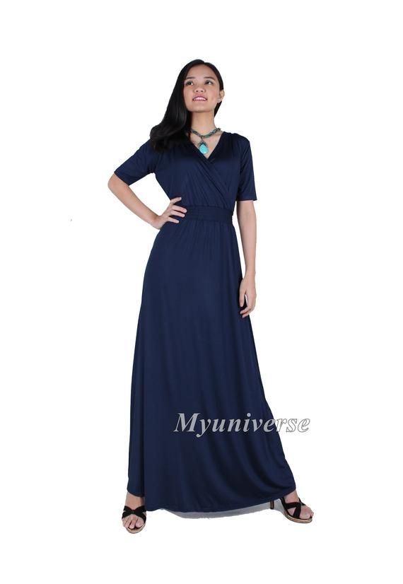 Special Occasion Dress Long Navy Blue Plus Size Clothing Bridesmaid ...