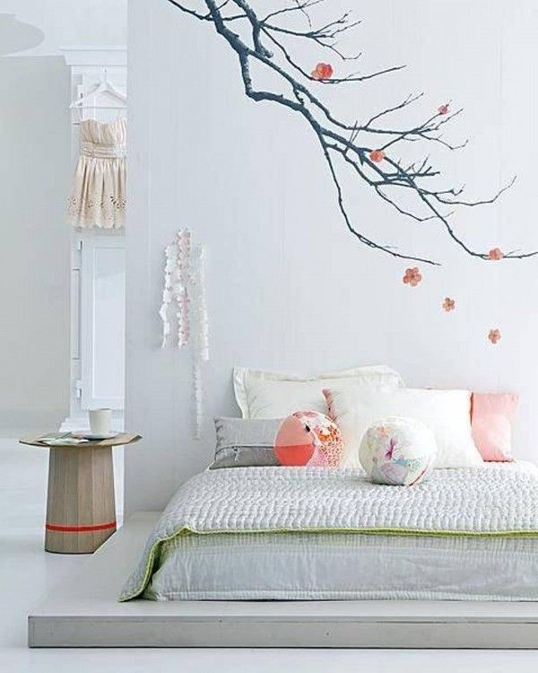 white japanese bedroom