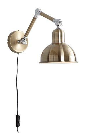Ellos Home Vegglampe Eddie Messing, Grå - Vegglamper | Ellos Mobile