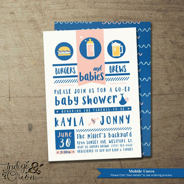 16 best Co-ed Baby Shower invitations images on Pinterest | Baby ...