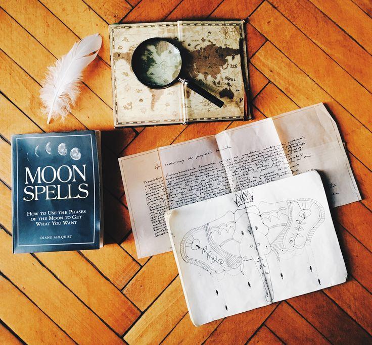 Read. Draw. Write. Repeat.  Moon spells, drawing, adventure