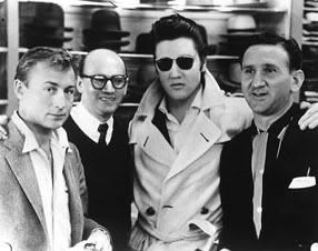 ♡♥Elvis Presley & Nick Adams with the two Lansky brothers♥♡