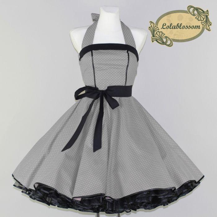 Spodnička šaty 50s šaty Lara šedá - LolaBlossom.com