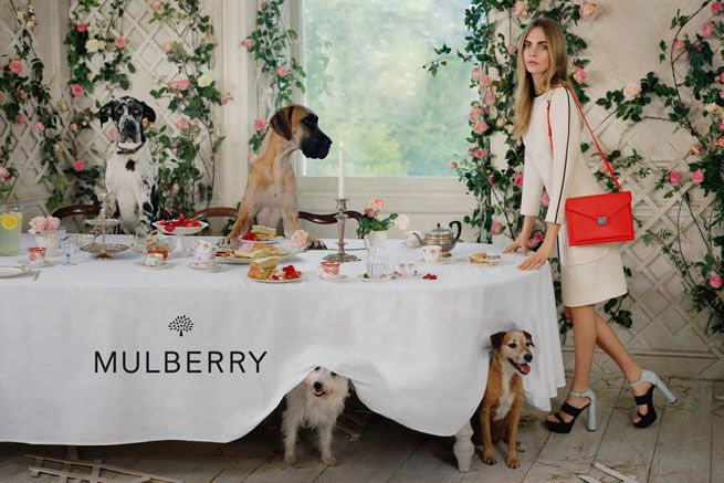 Cara Delevingne Has An Animal Tea Party In Mulberry's Spring Summer 2014 Campaign | Grazia Fashion