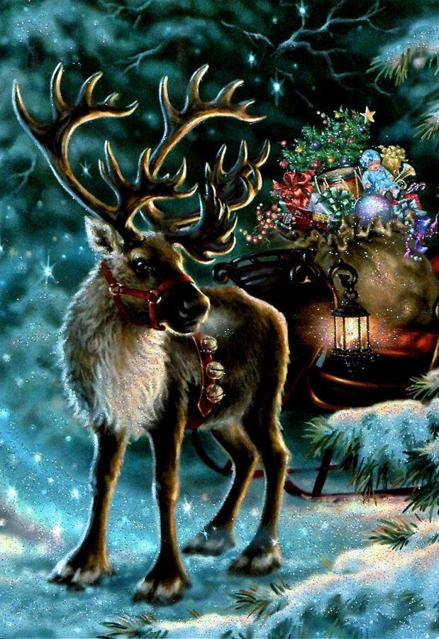 christmas reindeer dona geisinger - Christmas Reindeer
