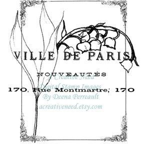 Instant Download Digital Stamp Image Spring in Paris Collage by ACreativeNeed on Etsy
